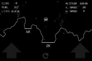 Landing scene Vector Moon